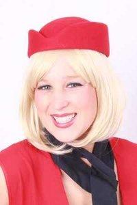 Stewardess wolvilt rood