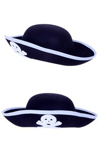 Piratensteek Kind, 3-steek zwart