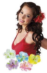 Hawaii haarclip met decoratiebloem assorti kleuren