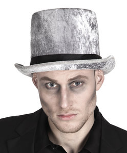 Hoge hoed grijs zombie