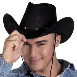 Cowboyhoed Wichita zwart volwassen maat