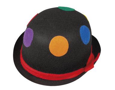 Clownbolhoed vilt, zwart met stippen