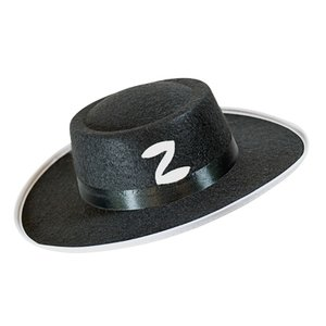 Zorro hoed vilt zwart kindermaat