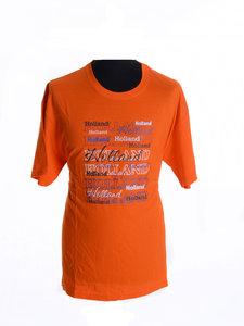 T shirt oranje met teksten 'Holland'