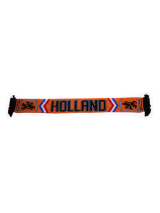 Shawl oranje zwart  'Holland'