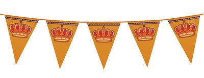 Mega vlaggenlijn oranje kroon 8 mtr