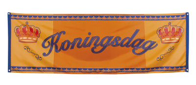 Spandoek oranje Koningsdag 74 x220 cm