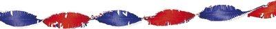 Crepe slinger 24 meter nationaal: rood-wit-blauw brandvertragend