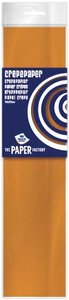 Crepe papier oranje 250 x 50 cm