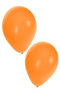Ballonnen oranje 50 stuks