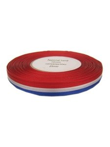 Medaille lint rood wit blauw 25 mtr x 10 mm
