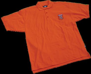 Polo heren oranje met Holland badge