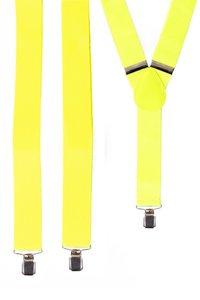 Bretels effen fluor geel