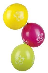 Ballonnen 6 stuks bedrukt met bloemdecor OP=OP