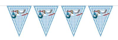 Vlaggenlijn blauw ooievaar