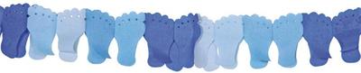 Slinger papier voetjes blauw 6 mtr