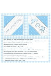 Servetten blauw babyshower 20 stuks