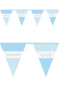 Vlaggenlijn blauw babyshower 10 m