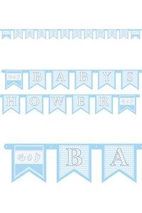 Babyshower letterslinger blauw