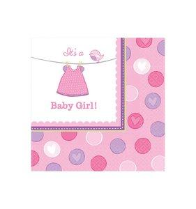 Servetten roze baby girl