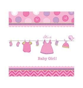 Tafelkleed plastic baby girl 138  x 259  cm