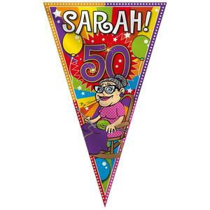 Sarah 50 mega puntvlag