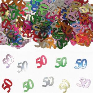 Confetti cijfer '50' gekleurd