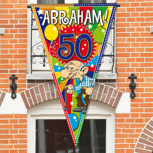 Abraham 50 mega puntvlag