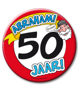 Abraham 50 mega button