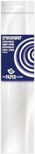 Crepe papier wit  250 x 50 cm