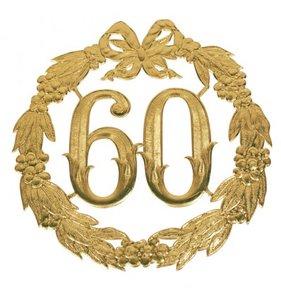 Hulde deco lauwerkrans  goud 60