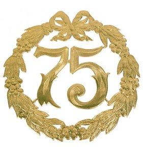 Hulde deco lauwerkrans  goud 75