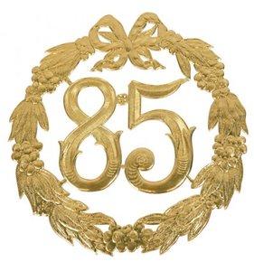 Hulde deco lauwerkrans  goud 85
