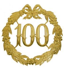 Hulde deco lauwerkrans  goud 100