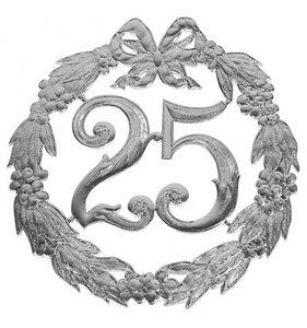 Hulde deco lauwerkrans  zilver 25