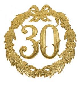 Hulde deco lauwerkrans  goud 30