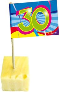 Party- cocktailprikkers '30' inhoud 50 stuks