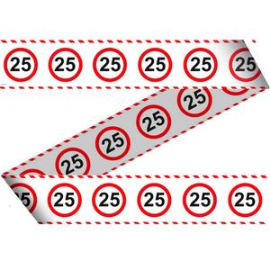 Markeerlint verkeersbord '25' ca. 15 meter