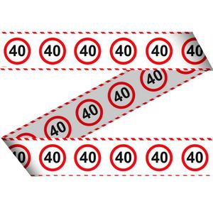 Markeerlint verkeersbord '40' ca. 15 meter
