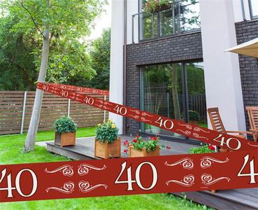 Markeerlint robijn 15 mtr Opdruk: '40'