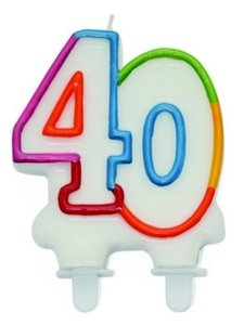 """Leeftijdkaarsje """"40"""""""