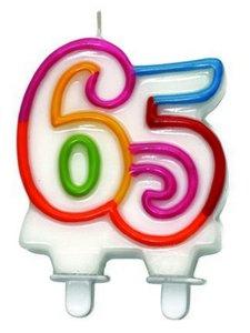 """Leeftijdkaarsje """"65"""""""