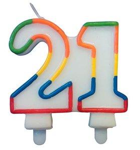 """Leeftijdkaarsje  """"21"""""""