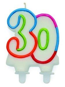 """Leeftijdkaarsje """"30"""""""