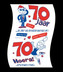Toiletpapier rol met opdruk 70