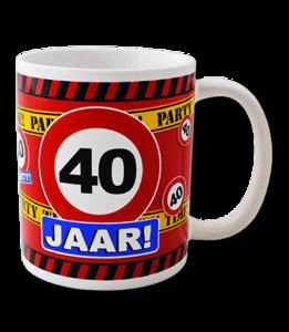 Mok leeftijd verkeersbord 40