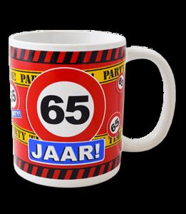 Mok leeftijd verkeersbord 65