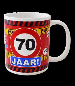Mok leeftijd verkeersbord 70