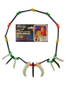 Indianenketting met kralen en tanden