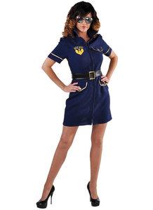Policejurk blauw met riem kort model.